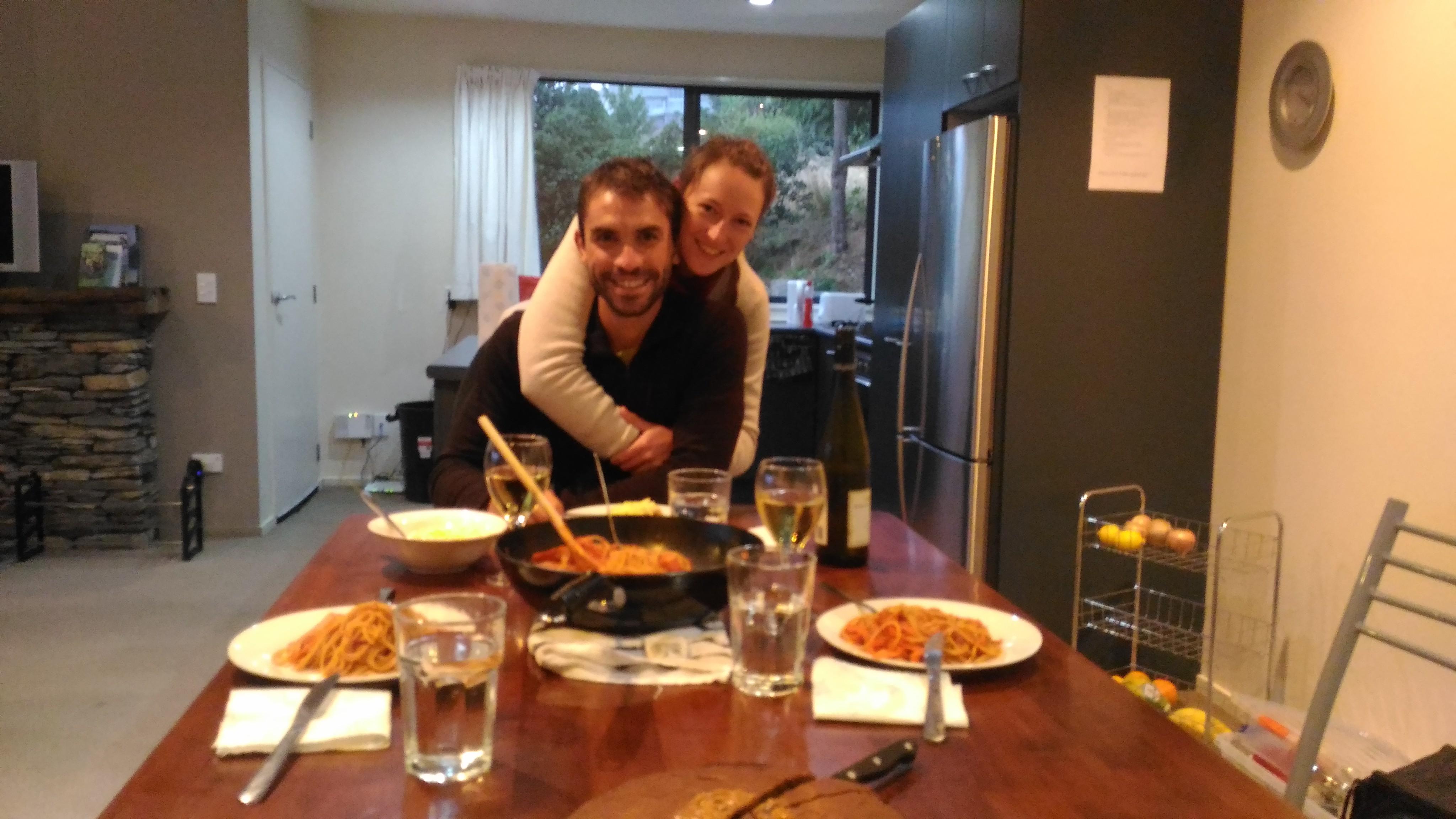 Premier repas dans notre maison!